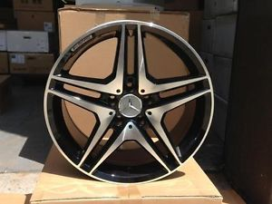"Black Mercedes Benz AMG Wheels 18"" Rims E350 Sport 4MATIC E Class Sedan Coupe"