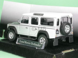 Land Rover Defender Silver Diecast Model Car Cararama 1 43