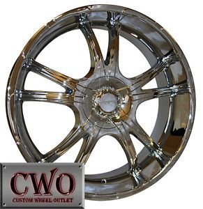 18 Chrome Forte Stress Wheels Rims 5x115 5x120 5 Lug 300 Charger BMW Land Rover