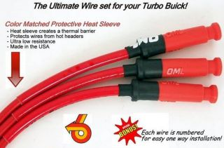 Buick Grand National T Type 10 mm Red Spark Plug Ignition Wire Set