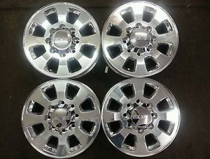 "18"" GMC Denali 2500 HD Sierra Polished Factory Wheels Rims 2011 2012 2013"