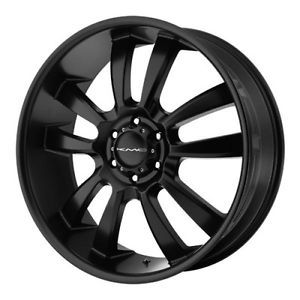 24 inch KMC Black Wheels Rims 6x5 5 6x139 7 Hummer H3 Savana Van Safari GMC 2500