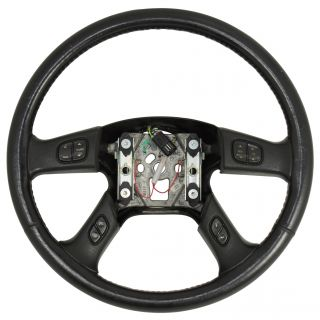 2003 07 Hummer H2 Black Steering Wheel w Switches 10364488