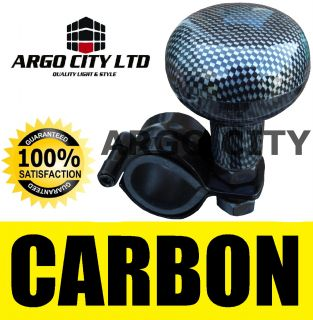 Carbon Black Steering Wheel Knob Aid Assister Car Van Subaru Forester 4x4