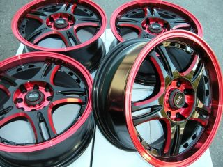 15 Red Wheel Rim Cabrio Toyota Yaris Corolla Scion IQ XA XB Saturn ion Jetta Rio