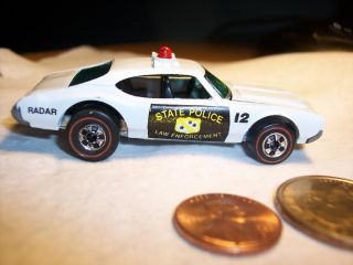 1969 Hot Wheels Redline Olds 442 Police Cruiser Car 6467 State Law Enforcement