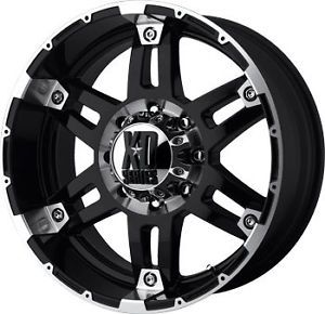"17"" KMC XD Series Spy Black Wheels Rims 5x127 5x5 Jeep Wrangler JK"