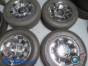 Four 08 09 Hummer H2 Factory 20 Wheels Tires Rims 6310 9596680 Sensors