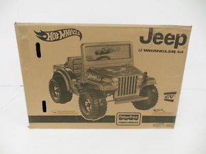 Fisher Price Power Wheels Charcoal Hot Wheels Jeep Ride On