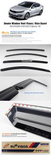 Smoke Window Vent Visors Rain Guards Sun Shield Fit Kia 2011 2012 Optima K5