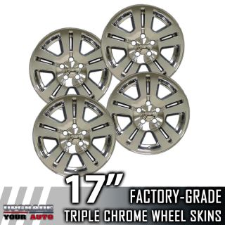 "2007 2011 Ford Edge 17"" Chrome Wheel Skins Covers"