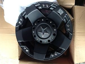 New Lower Price They Need to Go 17x6 KMC Rockstar Dually Wheels Black 8x200