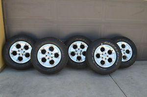 "5 18"" Wheels Tires 2013 Jeep Wrangler Sahara Rubicon Sport Take Offs"