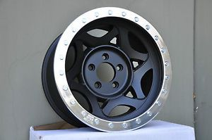 "17"" Walker Evans Beadlock 31 Series Racing Wheels Jeep Wrangler JK Black Chevy"