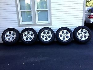 "5 Brand New 18"" 2013 Jeep Wrangler Unlimited Sahara Wheels and Tires"