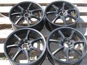 "Konig 18""x7 5"" Black Wheels Rims Set Universal Lug LKQ"