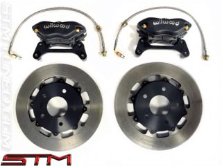 STM Front Drag Brake Kit Mitsubishi Lancer Evolution EVO VIII IX 8 9 Black