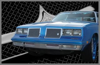 1981 1987 Olds Cutlass Supreme Chrome Mesh Grille Grill Old School 4 Piece