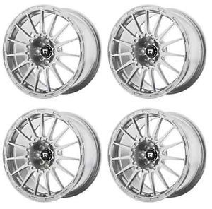 Motegi Racing MR119 MR11977012440 Rims Set of 4 17x7 40mm Offset 5x4 5 Silver