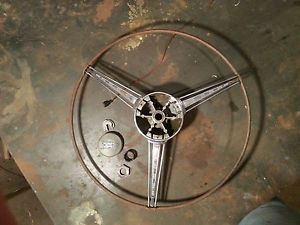 1937 Oldsmobile Banjo Steering Wheel Horn Button Free US Shipping 38 Ford Chevy