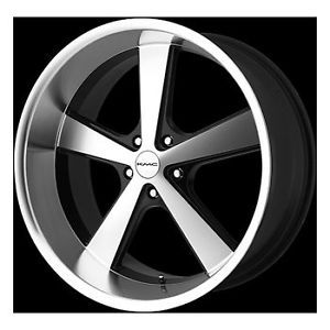 "20"" KMC 20 inch Nova 5 Lug Gloss Black Machined Face Wheels Rims Set of 4"