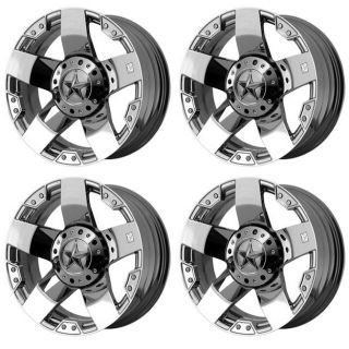 KMC XD775 Rockstar XD77522287244 Rims Set of 4 22x12 44mm Offset 8x170 Chrome