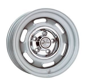 Wheel Vintiques 59 Series Pontiac Rallye I Silver Powdercoated Wheel 59 4734044