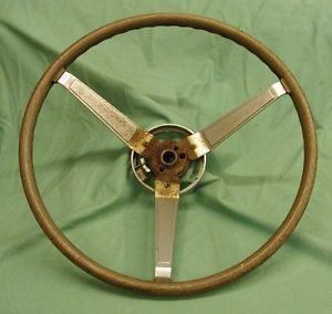 Pontiac 3 Spoke Woodgrain Rally Steering Wheel GTO Tempest Firebird 69 70 71 67
