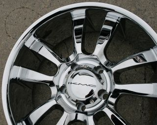 "KMC Skitch 673 20"" Chrome Rims Wheels RAM 1500 2 4WD 94 10 20 x 8 5 5H 15"