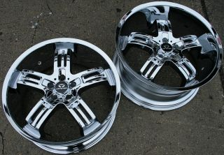 "Lorenzo WL026 20"" Chrome Rims Wheels Mercedes SL550 SL55"