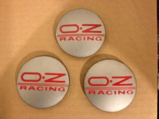 Oz Racing Rosso Opaco Grey Red Logo M595 Wheel Center Cap 62mm 81310345 M595CH