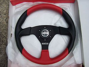 Sparco 330 Rossi Marco Red Black Leather Steering Wheel KBA70250 New Italy L K