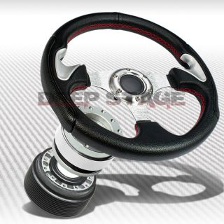 320mm Silver Thumbrest Steering Wheel Hub Silver Quick Release Eclipse Talon DSM