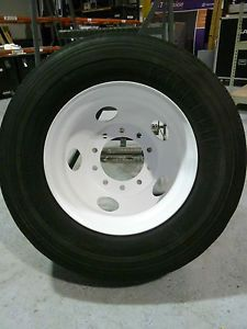 "22 5"" Rims and 39"" Tires Commercial Semi Truck Trailer Wheels 4 Rims Tires"