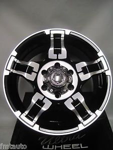 "Set of Four New 17x8 Ultra Drifter Wheels 6 Lug ""Black w Diamond Cut"""