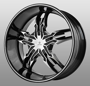 22 inch Black Machined Verde Thorax Wheels Rims Chevrolet Silverado Tahoe LTZ SS