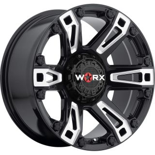 18x9 Black Milled Worx Beast 803BM Wheels 5x150 25 Toyota Land Cruiser
