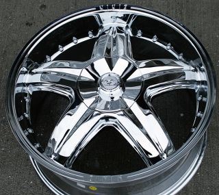"Zinik Z20 20"" Chrome Rims Wheels Explorer Mountaineer"