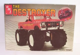 4x4 Ford Monster Truck Destroyer 1 25 AMT 6608 Model 70's Pickup Kit Opened