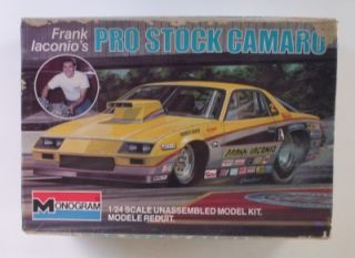 Frank Iaconio's Pro Stock Chevy Camaro Monogram 1 24 Drag Car Model Kit