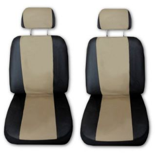 Comfort Racing Z Tan Black Car Truck Seat Covers Set with EXTRAS G