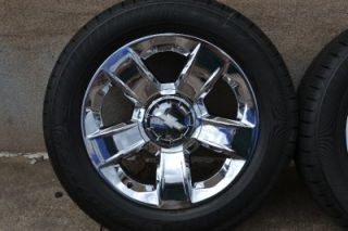 2014 GM Chevy Silverado Texas Edition Chrome Wheels Rims Goodyear Tires Tahoe