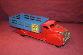 "Marx ""Motor Market"" Truck Pressed Steel All Original 1939"
