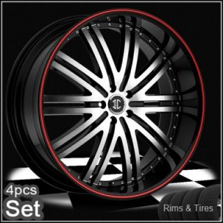 22inch Wheels and Tires Pkg for Land Range Rover Camaro Red Ring Rims