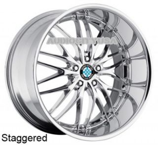 "19"" MRR GT1 Chrome for BMW Wheels Staggered Rims 1 3 5 6 7 Series M3 M4 M5"