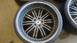 "22"" asanti Custom Painted Grey Chrome 3 Piece Wheels BMW 7 Series 745 750"