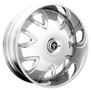 "26"" Dub Bandito Wheels and Tires Rims for Chevy Tahoe Escalade Silverado 1pc"