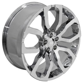 "22"" Wheels Fits Land or Range Rover Set of 4 Chrome Rims"
