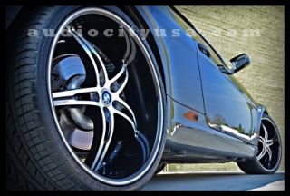 22 inch Wheels and Tires Staggered Rims Altima Maxima Impala Lexus