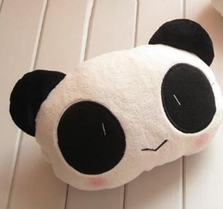 1x Cute Panda Headrest Car Care The Occipital Car Neck Pillow